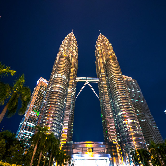 """Petronas Twin Towers"" stock image"