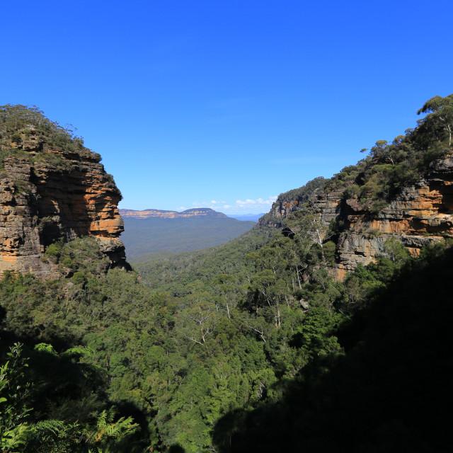 """ape shape mountain in australia"" stock image"