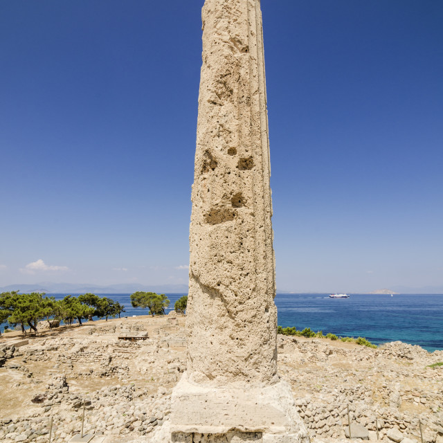 """Lone column at the Temple of Apollo"" stock image"