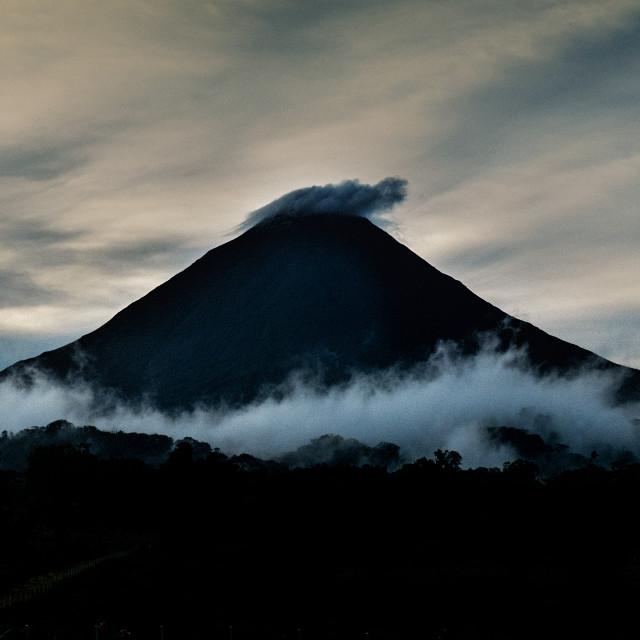"""""""Dawn at Vulcan Arenal"""" stock image"""