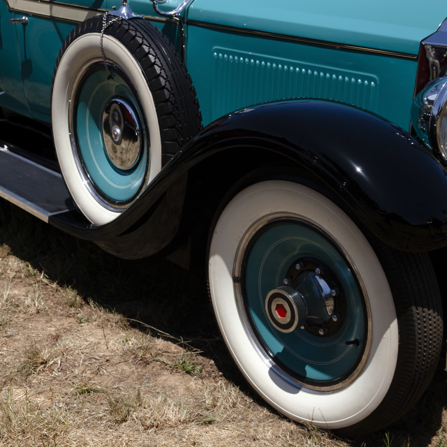"""""""Turquoise 30s antique car"""" stock image"""