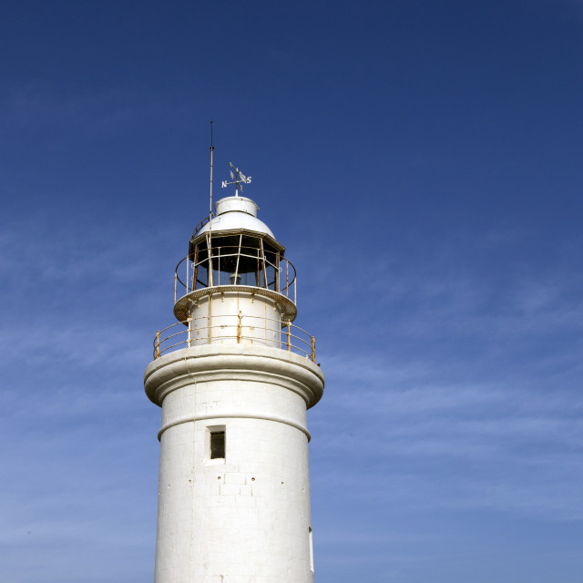 """The lighthouse off the coast of Paphos, Cyprus"" stock image"
