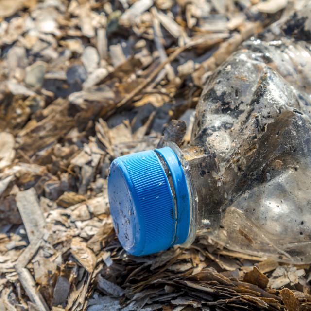 """Discarded plastic pet bottle 1"" stock image"