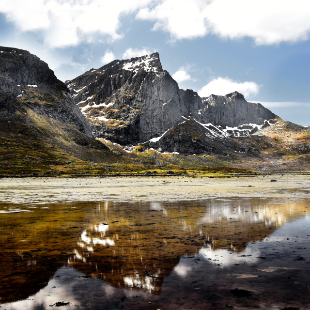 """""""Loftoten Islands Norway"""" stock image"""