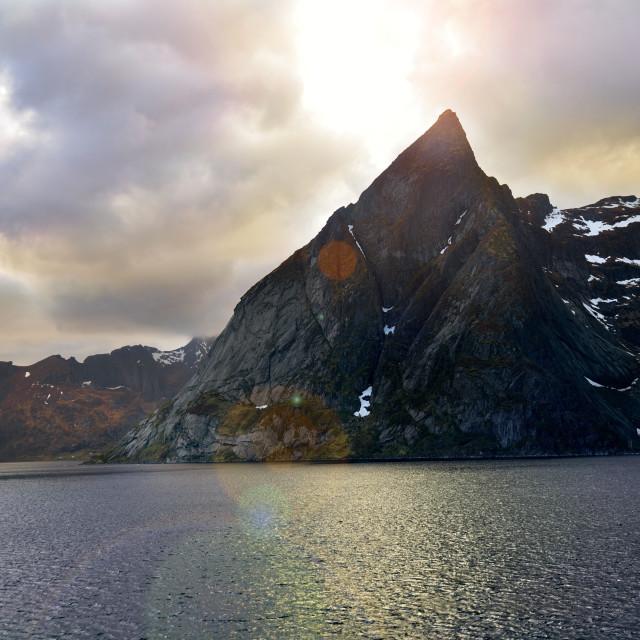 """Lofoten Islands Norway"" stock image"