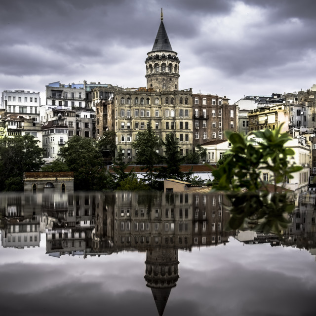 """Galata Tower ""Tower of Christ"""" stock image"