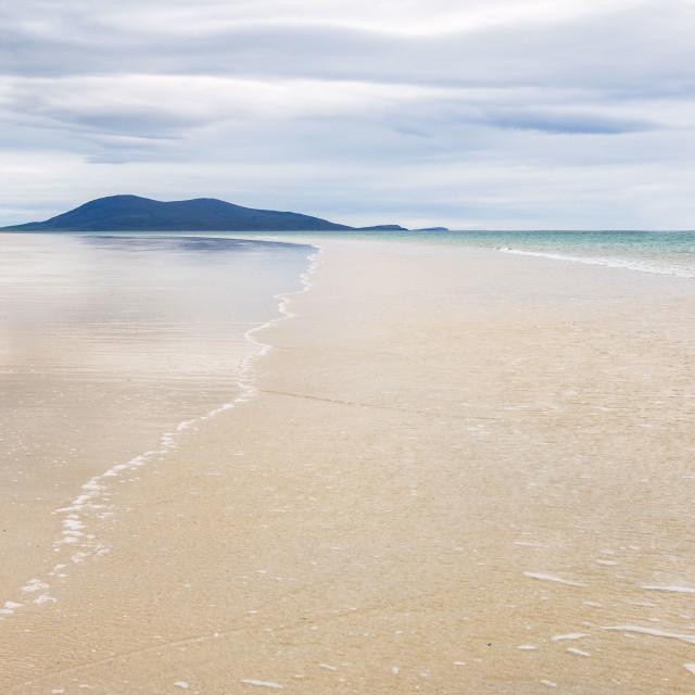 """The beach at Luskentyre"" stock image"