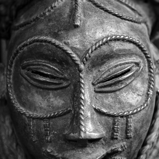 """""""Traditional African tribal mask"""" stock image"""