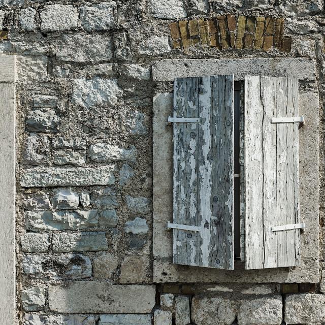 """Rustic home detail, Kotor, Montenegro"" stock image"