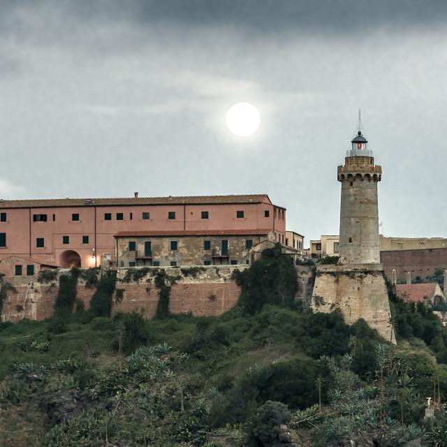 """Lighthouse of Portoferraio, Elba, Tuscany, Italy"" stock image"