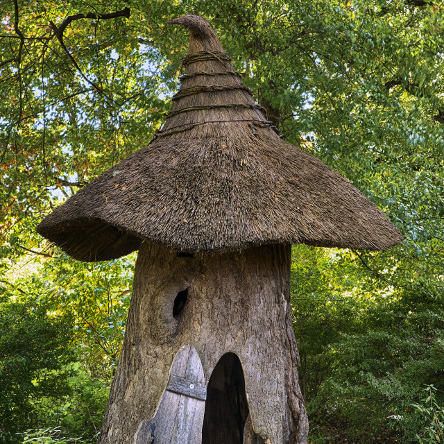 """""""Tulip Tree House in the Enchanted Woods of Winterthur Gardens"""" stock image"""