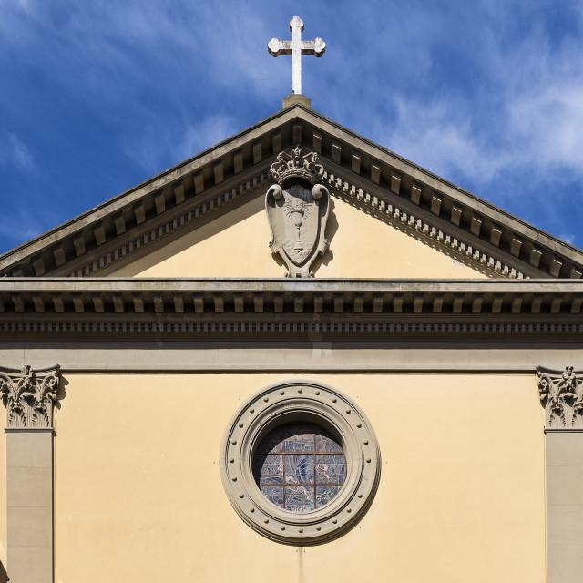 """The Church of Santissimo Sacramento, Portoferraio, Italy"" stock image"