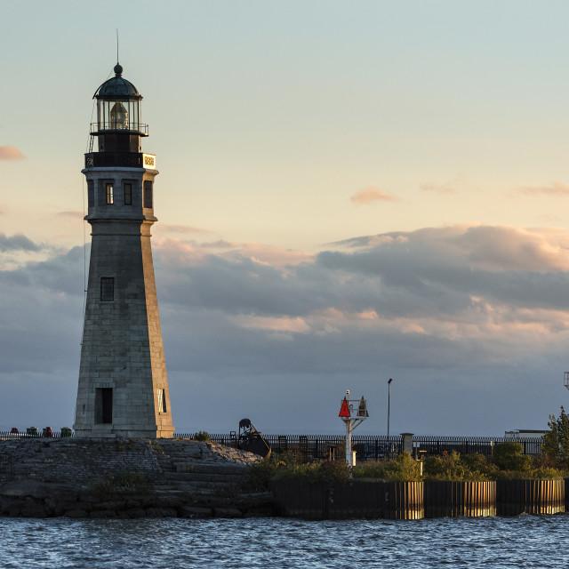 """Buffalo Lighthouse, Buffalo, New Yor"" stock image"