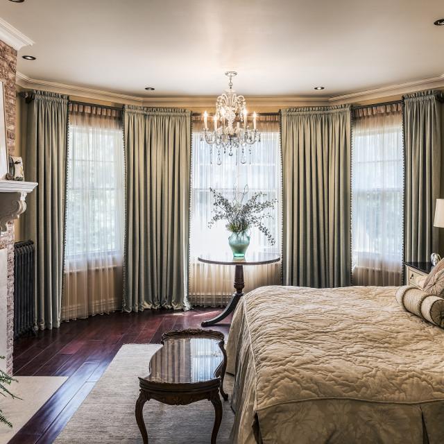 """Elegant interior design of a bedroom"" stock image"