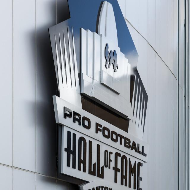 """Pro Football Hall of Fame, Canton, Ohio"" stock image"