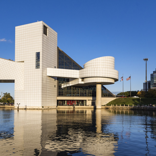"""""""Rock and Roll Hall of Fame, Cleveland, Ohio, USA"""" stock image"""