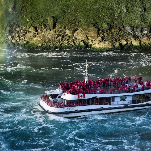 """Sightseeing boat, Niagra Falls, Ontario, Canada"" stock image"
