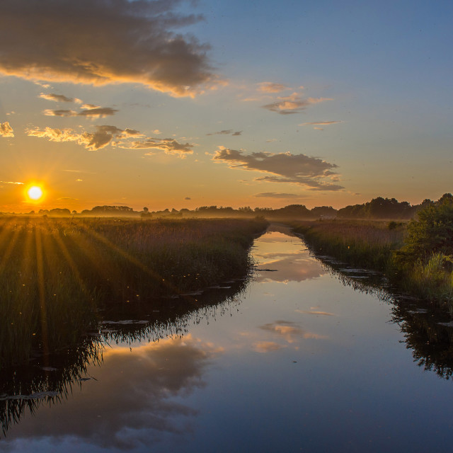 """Summer River Sunset"" stock image"