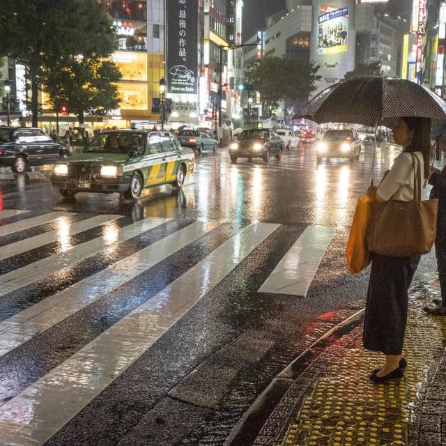 """""""Waiting In Shibuya"""" stock image"""