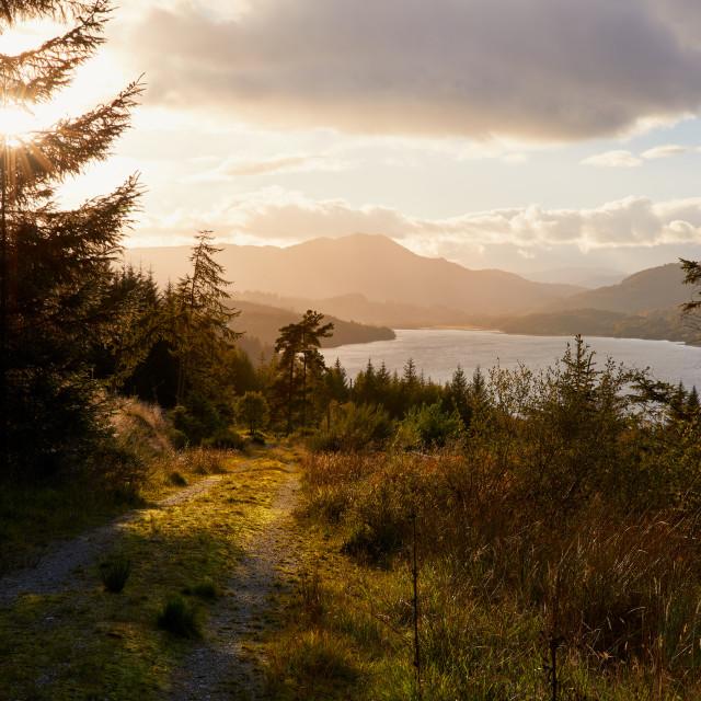 """Loch Venachar Trail"" stock image"