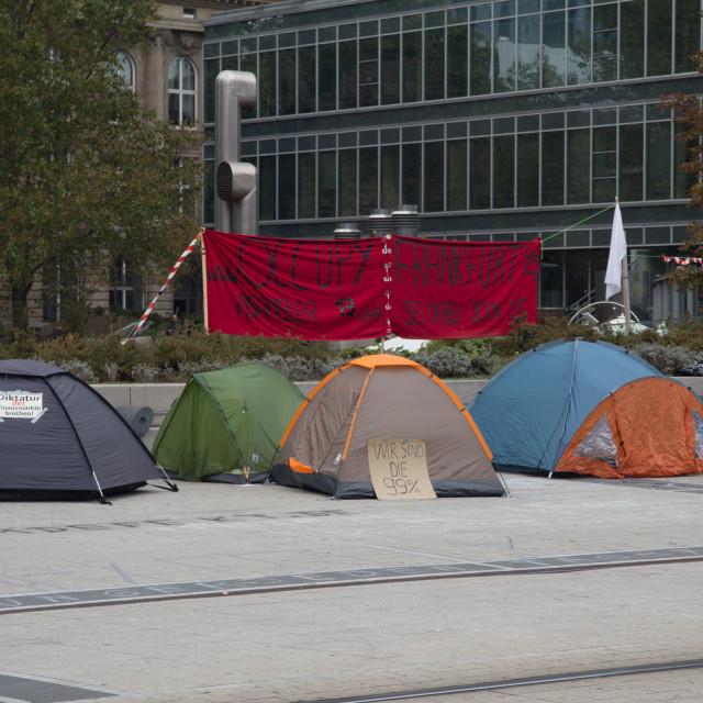 """Frankfurt protests"" stock image"