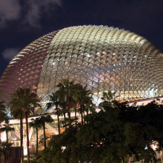 """Esplanade concert hall"" stock image"