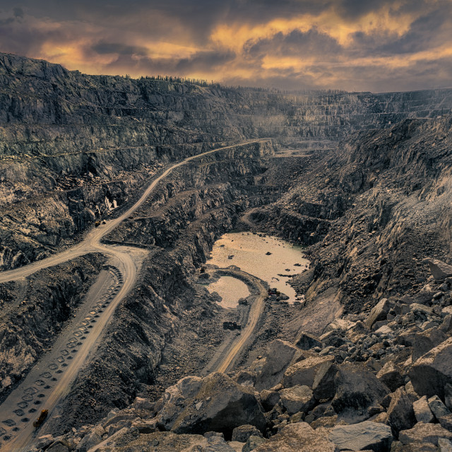 """""""Open-pit mine"""" stock image"""