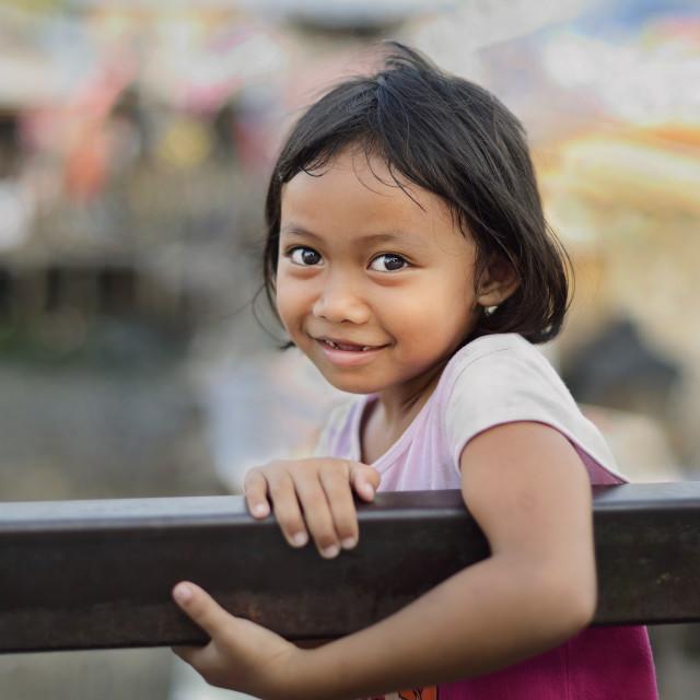 """""""Kampong girl"""" stock image"""