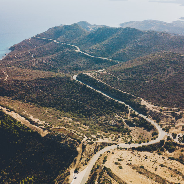 """""""Aerial Top View of the road"""" stock image"""