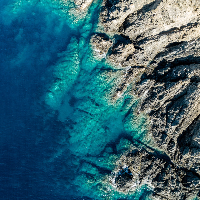 """""""Aerial view of the amazing sea"""" stock image"""