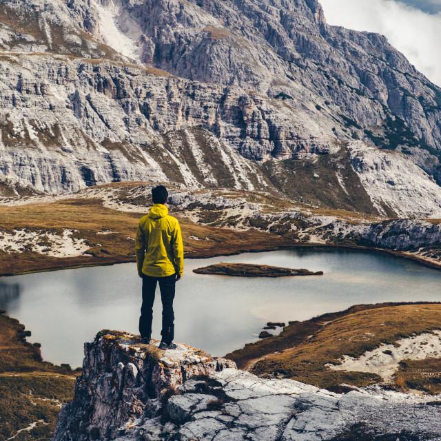 """Wanderlust Mountain Panorama"" stock image"