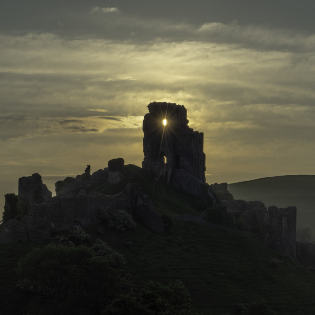 """Corfe Castle"" stock image"