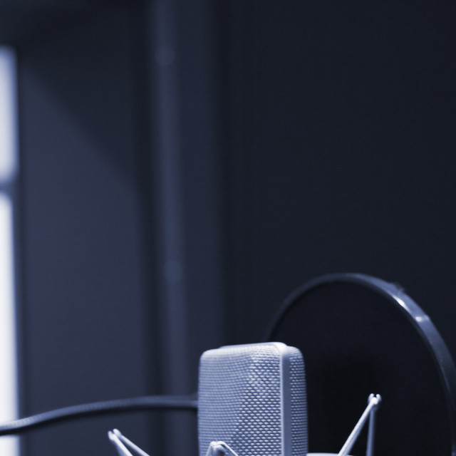 """Recording audio studio microphone"" stock image"