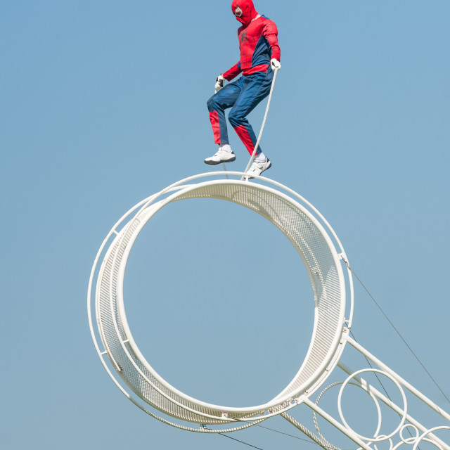 """skipping spider-man"" stock image"