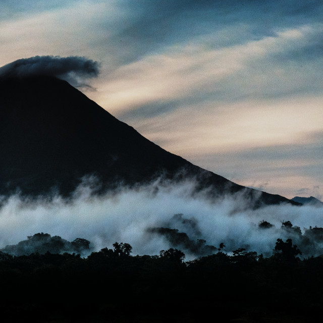 """Left -Sided view of Arenal Volcan, Costa Rica"" stock image"