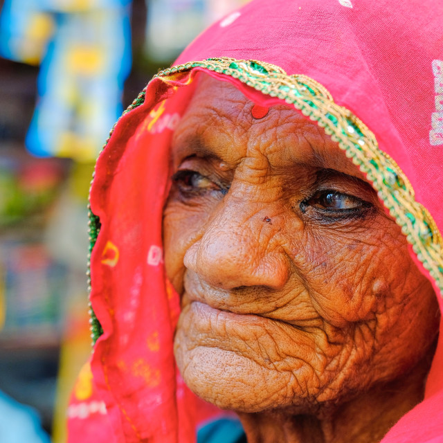 """Faces of Mandawa, India."" stock image"