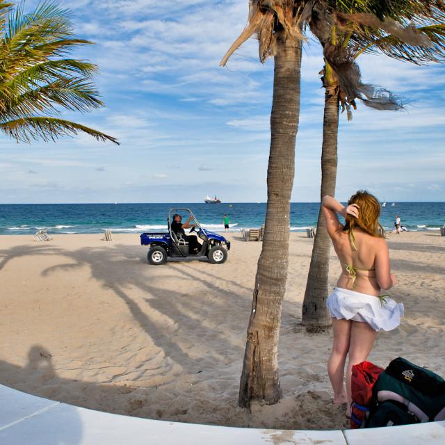 """Spring Break in Ft. Lauderdale"" stock image"