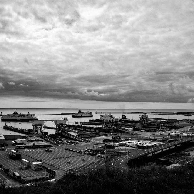 """Dover Port BnW"" stock image"