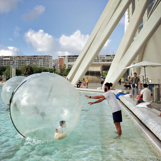 """Bubble Boy"" stock image"