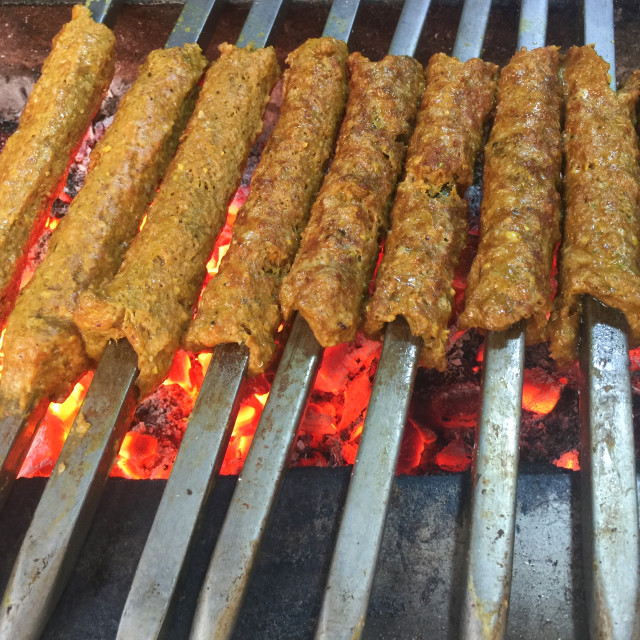 """""""Chicken and Mutton Kebab"""" stock image"""