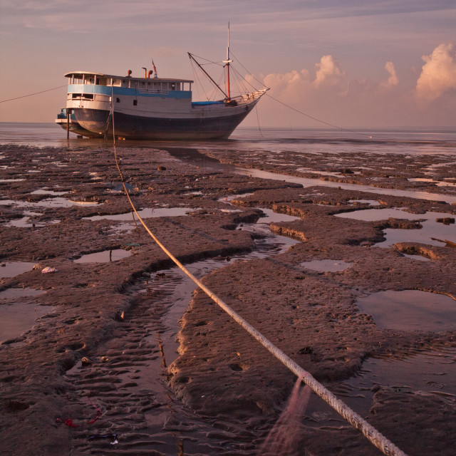 """Stranded Fishing Ship."" stock image"