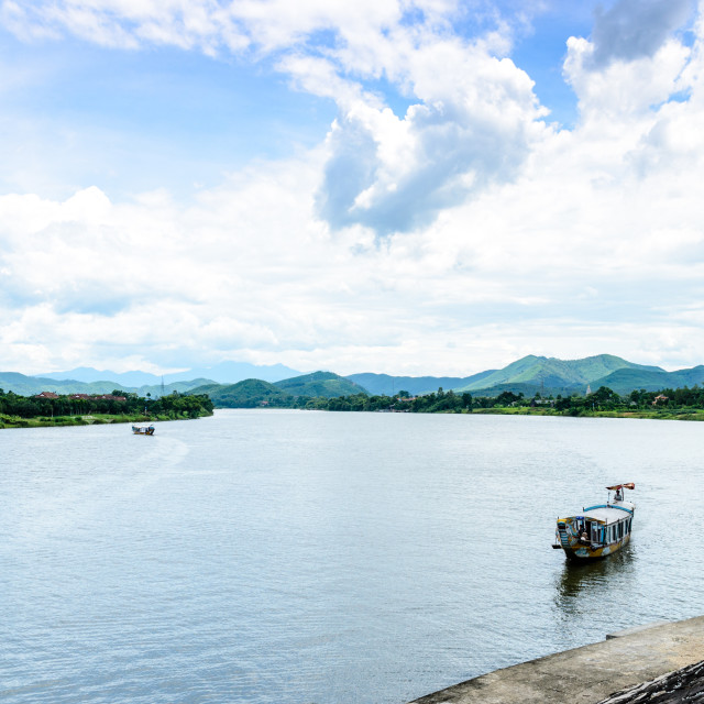 """The Perfume River or Huong River"" stock image"