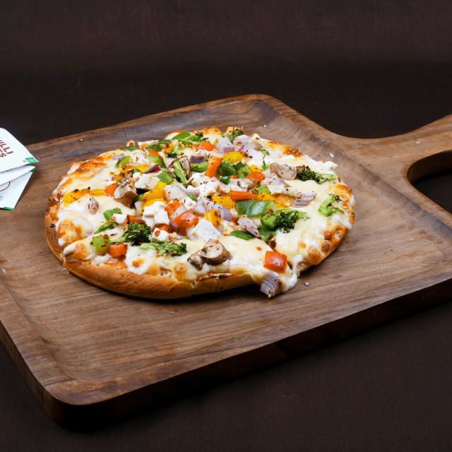 """Vegetable Pizza"" stock image"