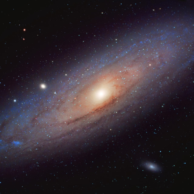 """M31 - The great spiral galaxy in Andromeda"" stock image"
