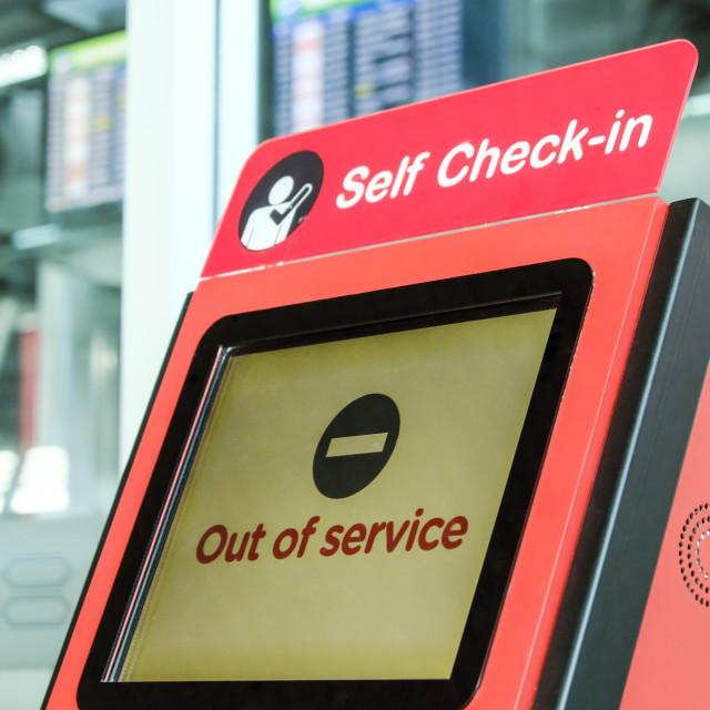 """""""Self Check In Kiosk"""" stock image"""