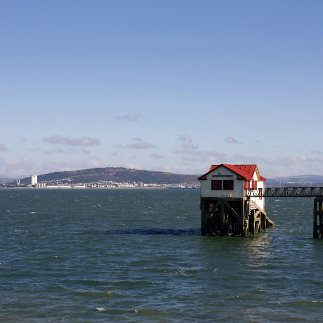 """""""The old RNLI lifeboat station, Mumbles, Swansea"""" stock image"""