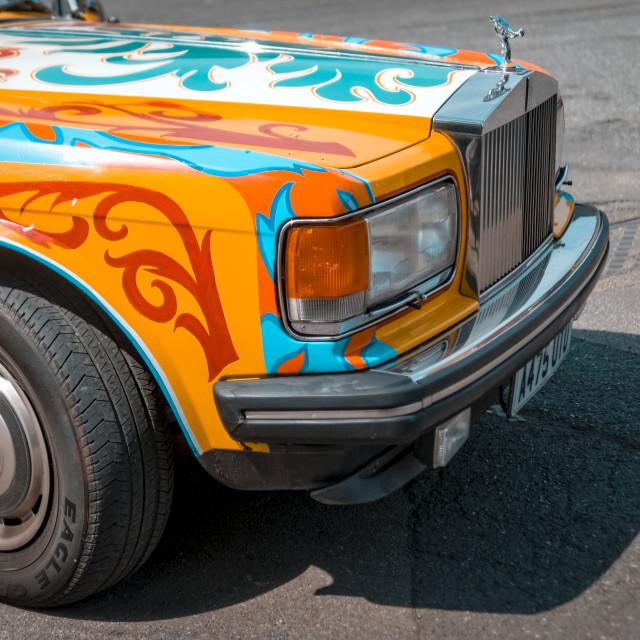 """Painted Rolls-Royce car similar to John Lennon's"" stock image"