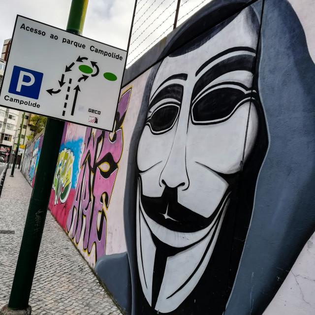"""I am anonymous!"" stock image"