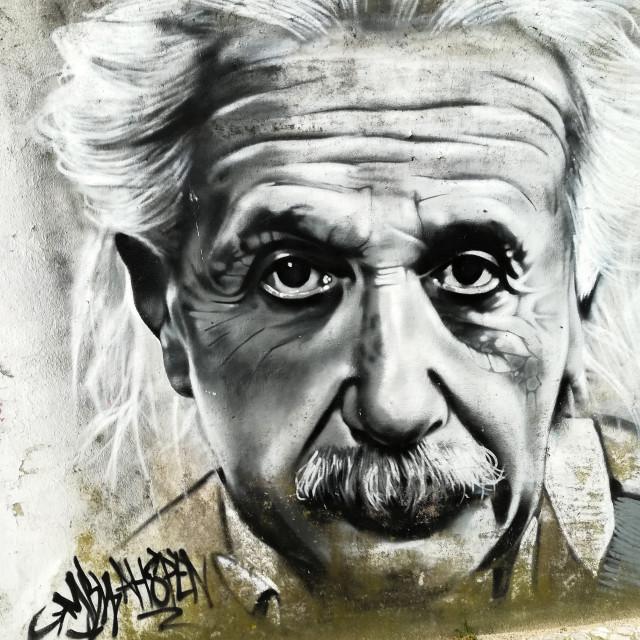 """""""Einstein street art"""" stock image"""