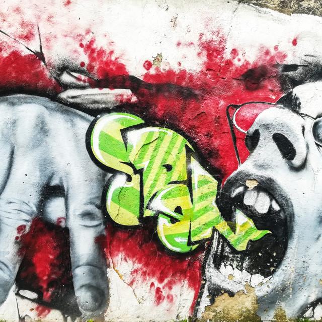 """Sick street art"" stock image"
